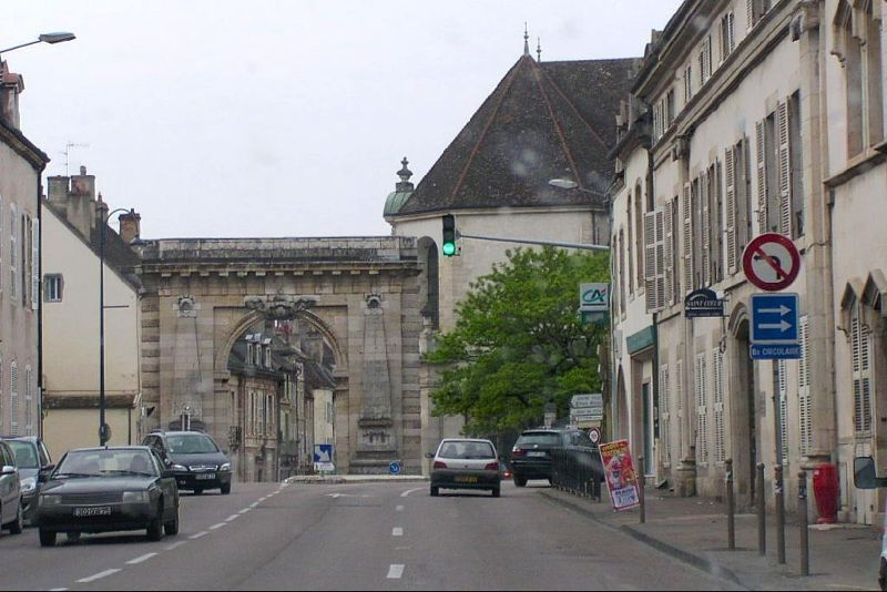 Triumphal arch into Old Town Beaune