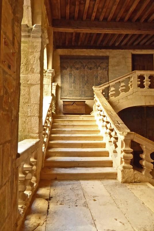 The Renaissance Staircase at Château de Beynac