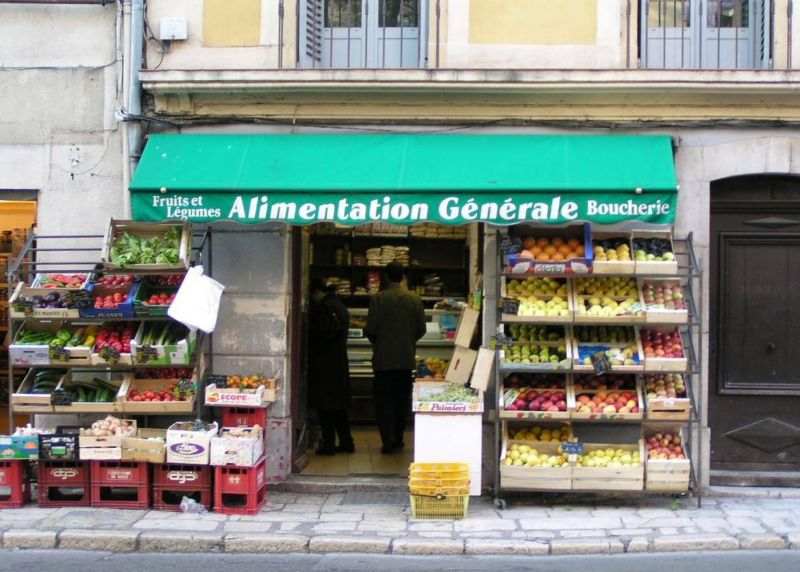 Grocery in Vence, France, Provence