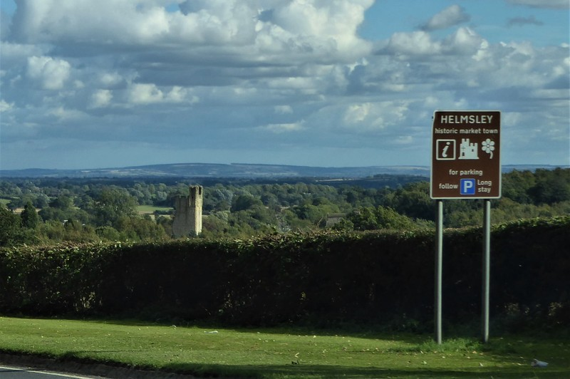Driving back to Helmsley from Rievaulx terrace