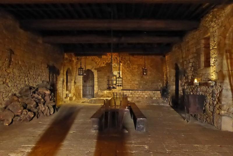 The Guard Room in Château de Beynac
