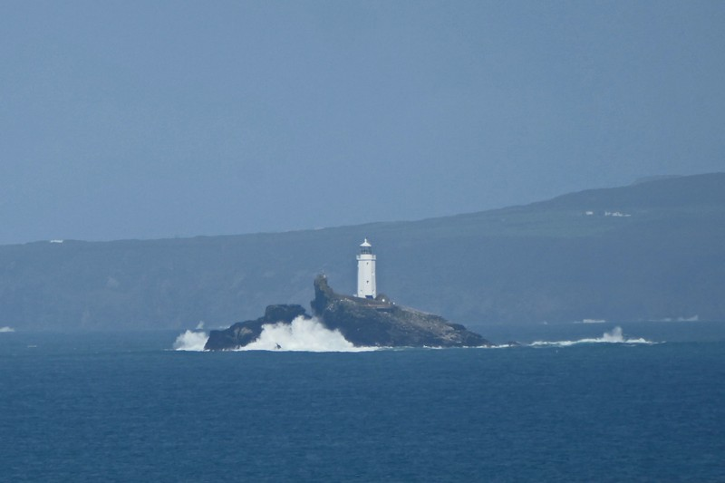 Godrevy Lighthouse in St. Ives Bay