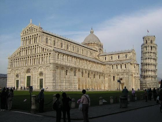 The Duomo and Leaning Tower at Sunset - Pisa