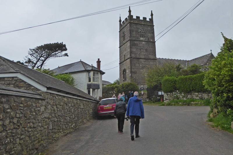 Saint Senara's Church in Zennor, Cornwall
