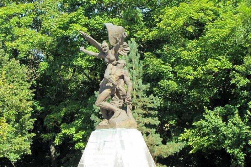 Rodin's Angel in the city of Verdun, a World War I Memorial