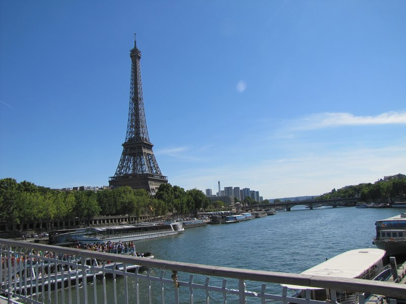The Eiffel Tower from the Passerelle Debilly