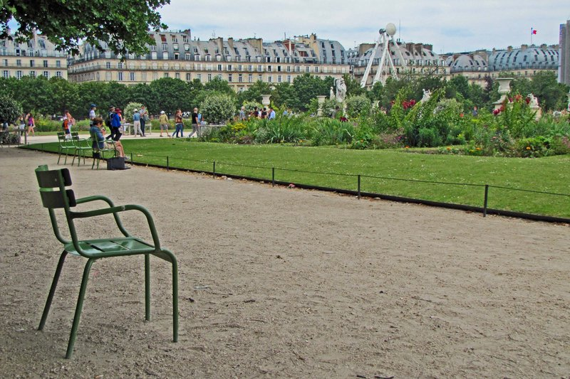 Waiting chair in the Tuileries Gardens