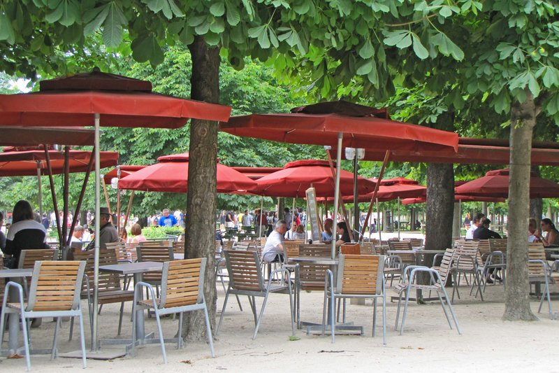 Café Diane in the Tuileries Gardens