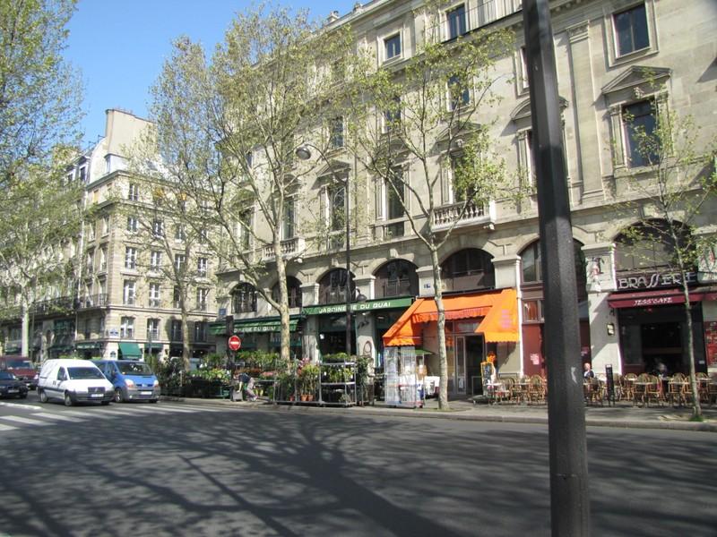 Quai de la Mégisserie along the Seine in Paris