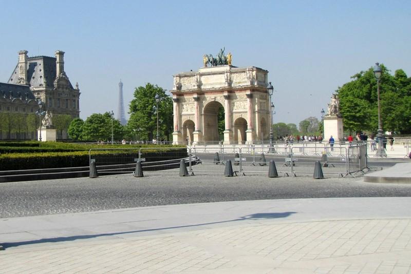 Arc du Carrousel in The Tuileries Gardens in Paris