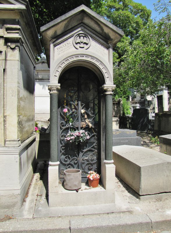 Tomb of Francis Poulenc at Père Lachaise Cemetery