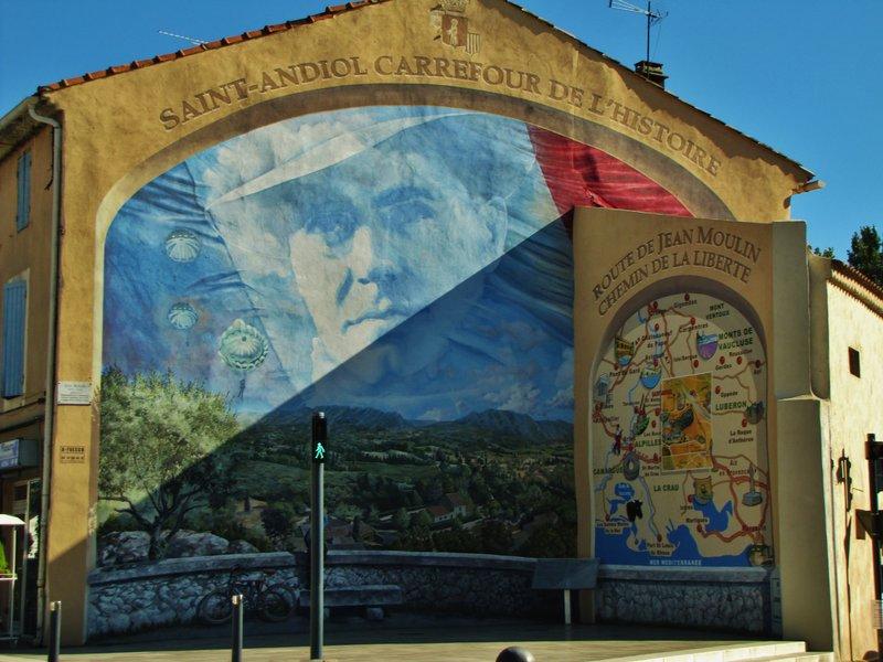 Mural in Saint Andiol, France