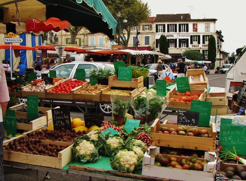 Vegetables at the Saint-Remy-de-Provence market