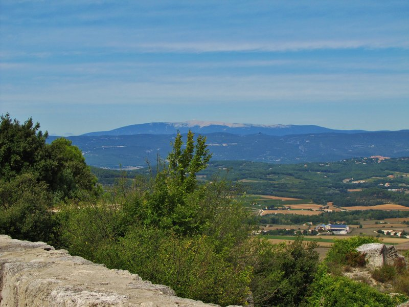 Mt. Ventoux from the  Château de Lacoste