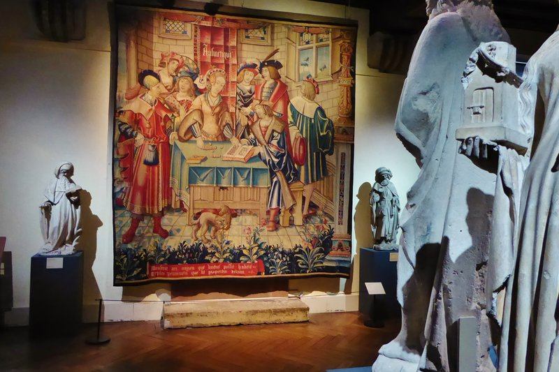 Tapestry in the Cluny Museum