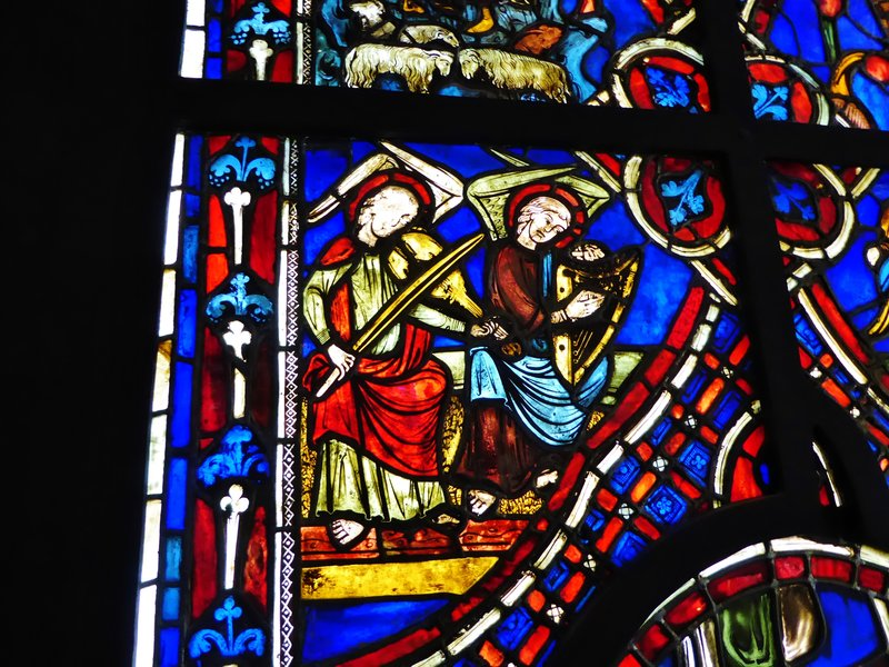 Stained glass in the Cluny Museum