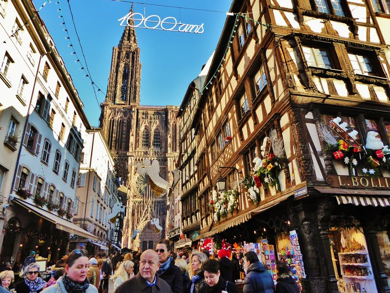 The Strasbourg Cathedral from Place Gutenberg