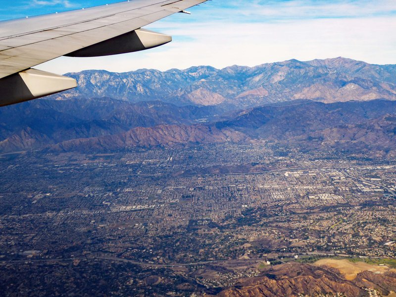 Flying into Los Angeles