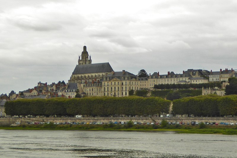 View of Blois across the river Loire
