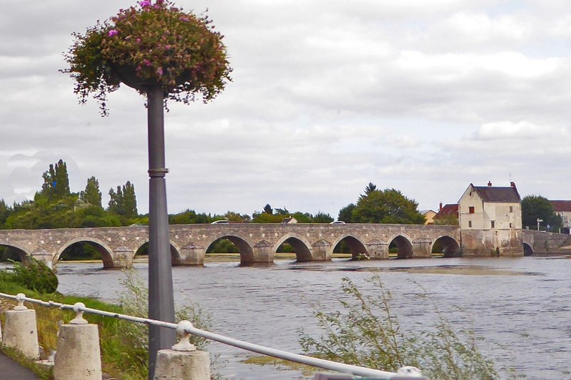 Bridge over the river Cher at Montrichard