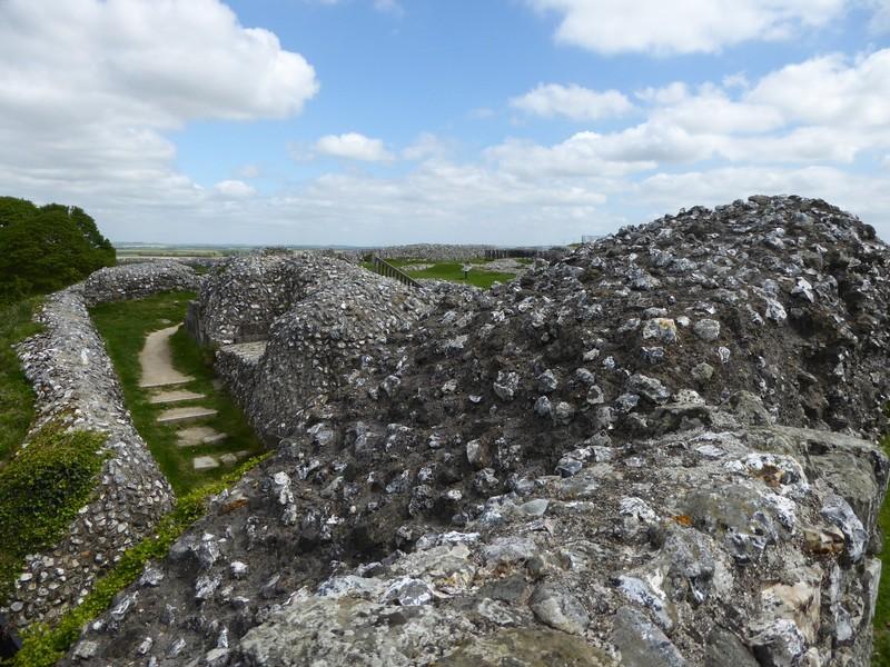 Old Sarum, castle ruins