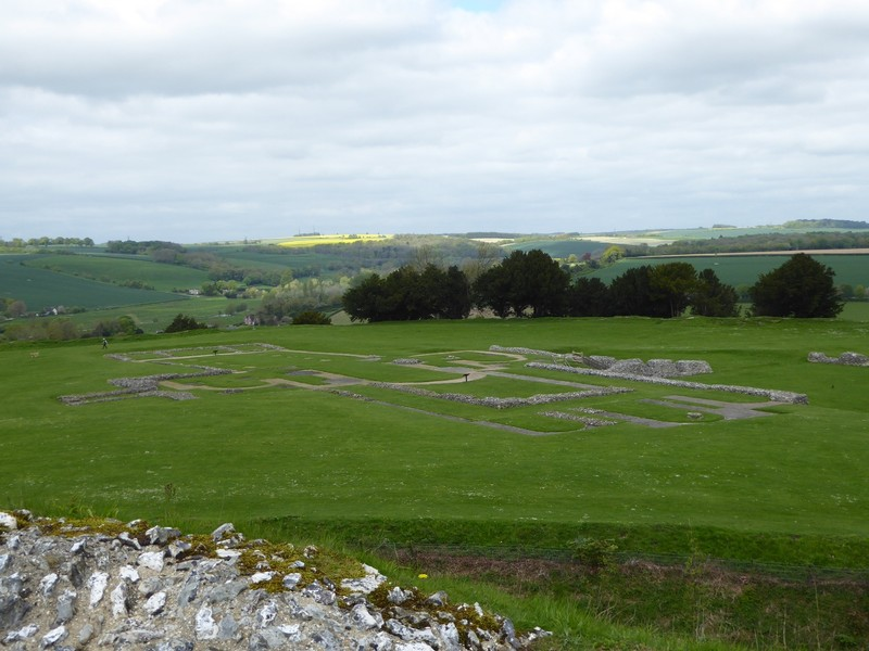Remains of the Cathedral at Old Sarum near Salisbury