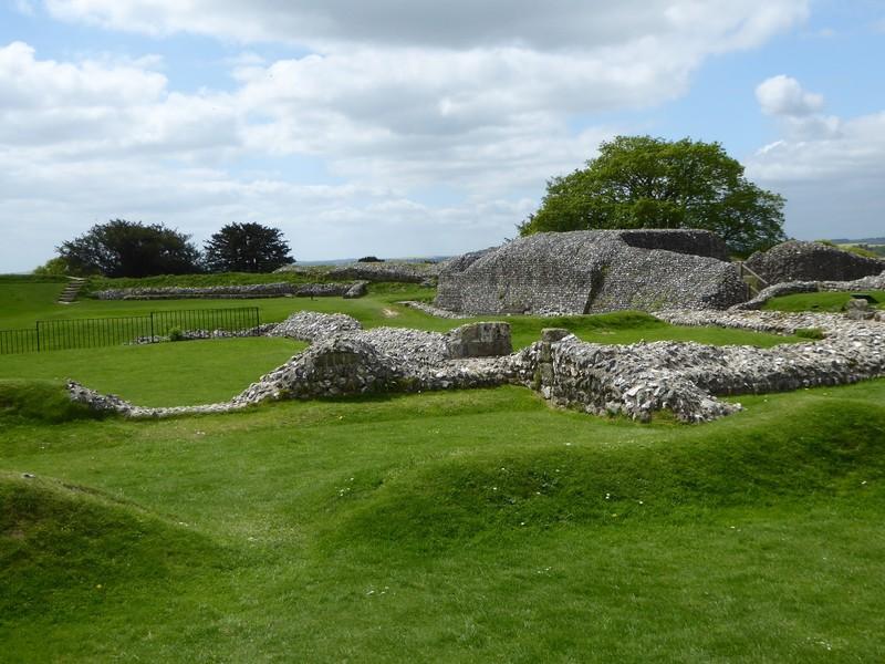 Ruins at Old Sarum near Salisbury