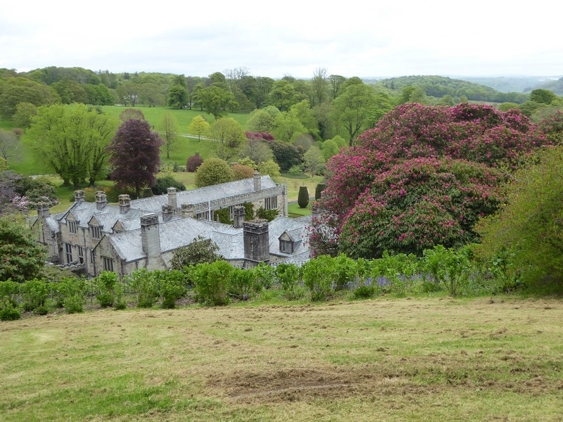 Lanhydrock House from the top of the Gardens