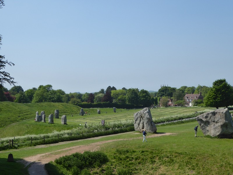 Looking across the road to more standing stones