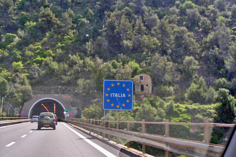 Entering Italy from France