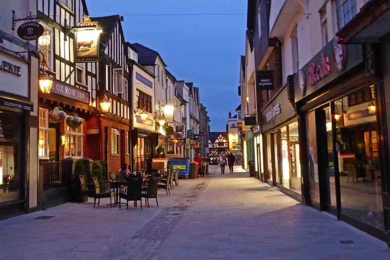 Butcher Row at night, Salisbury