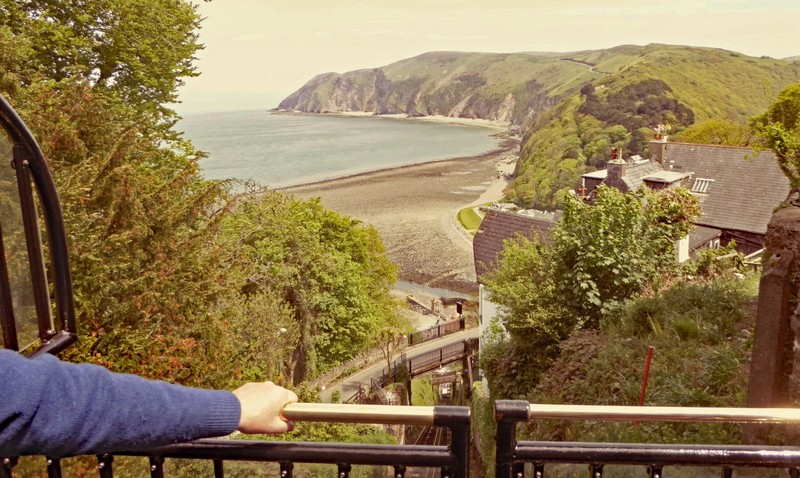 From the top of the Cliff Railway in Lynton
