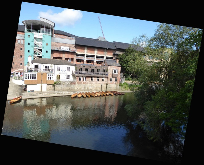 Prince Bishops Shopping Centre from the Elvet Bridge in Durham