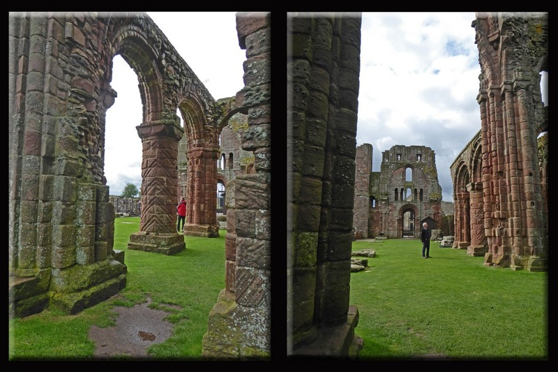 Two pictures of the ruins of The Priory on Lindisfarne (Holy Island)