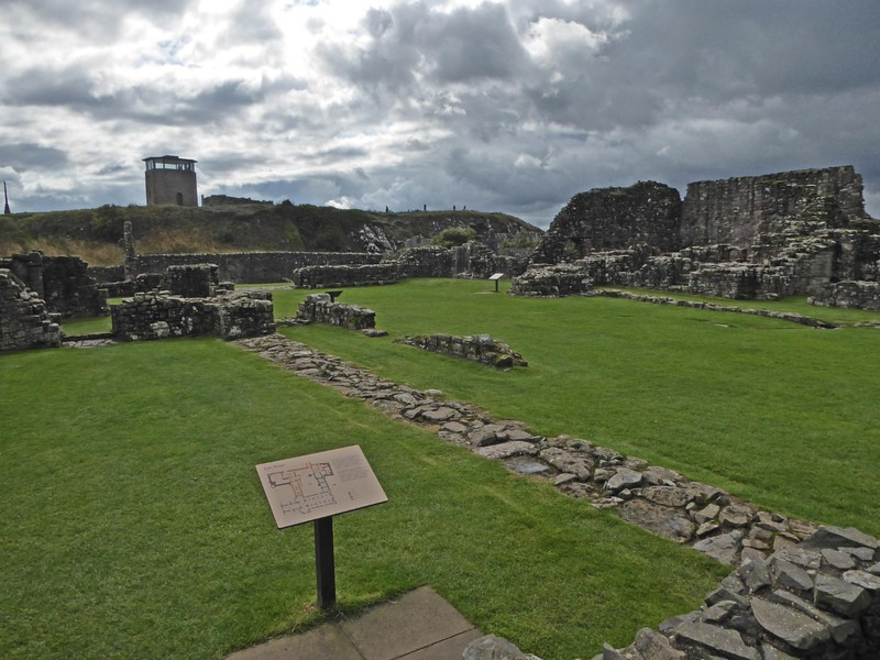 The Priory, an English Heritage Site on Lindisfarne (Holy Island)