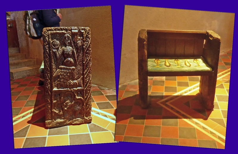 The famous Mermaid Chair at St. Serana's Church in Zennor