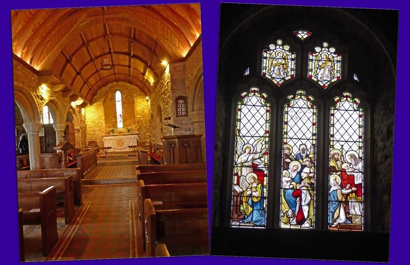 Saint Serana/s Church - Interior and Stained Glass