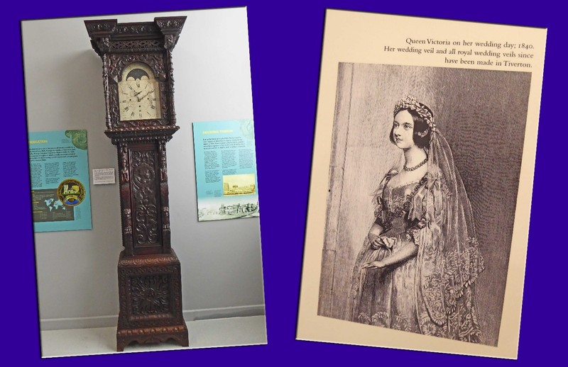 Tiverton Museum of Mid Devon Life - Carved clock and Queen Victoria