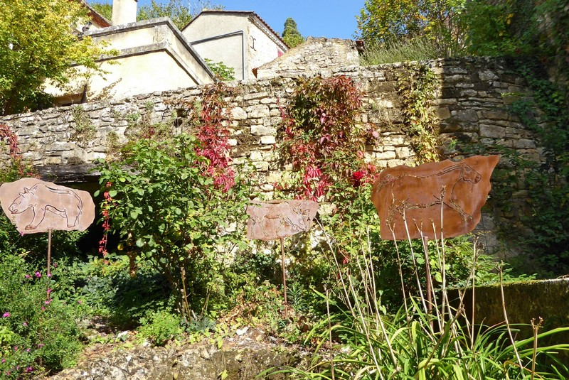 One of several small gardens in Limeuil
