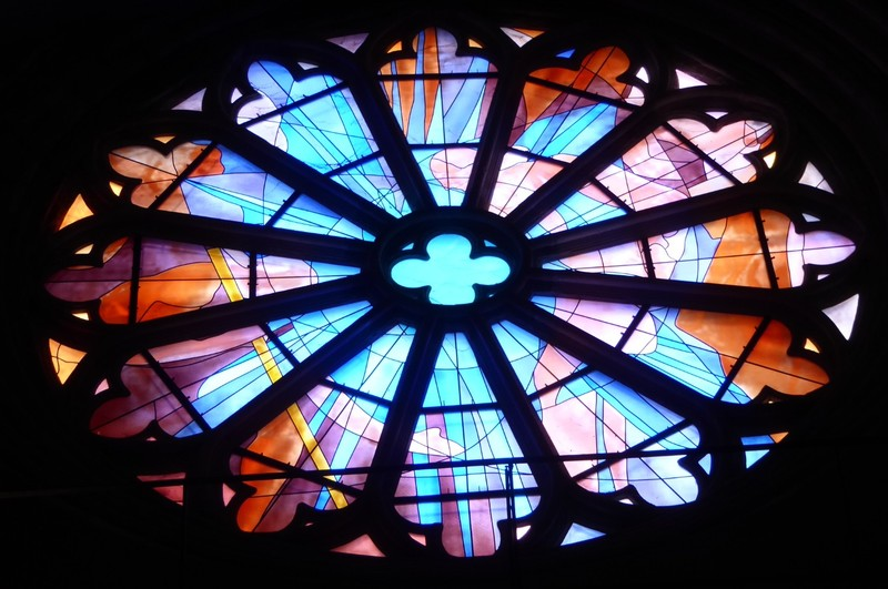 Rose Window (modern) of Cathédrale Saint-Étienne in Cahors