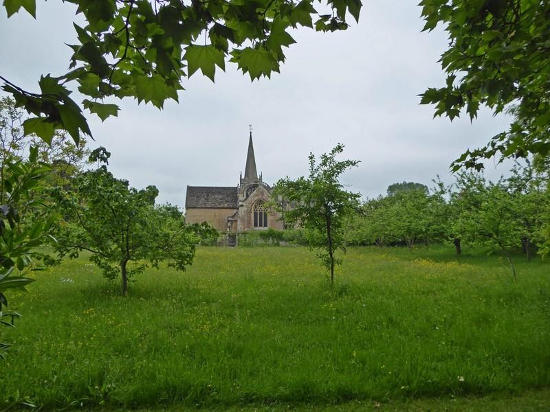 St. Cyriac's Church from the Lacock Abbey Gardens