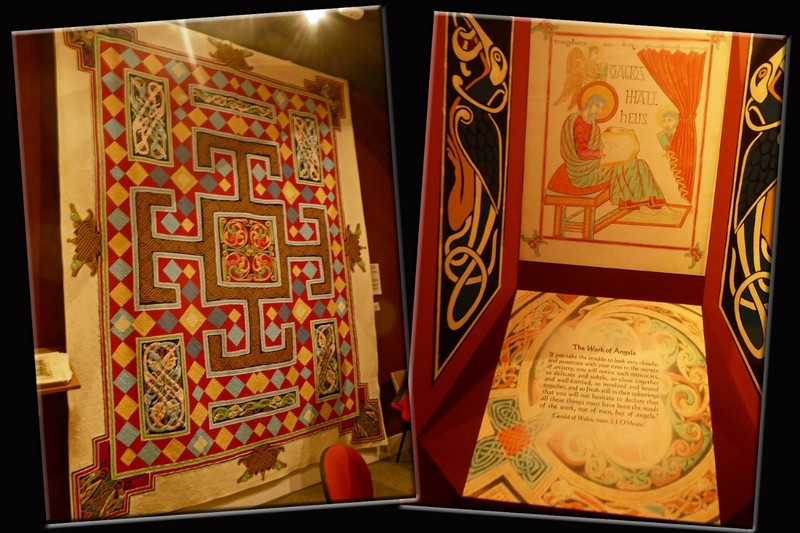 Lindisfarne Heritage Centre Quilt and Saint Cuthbert display