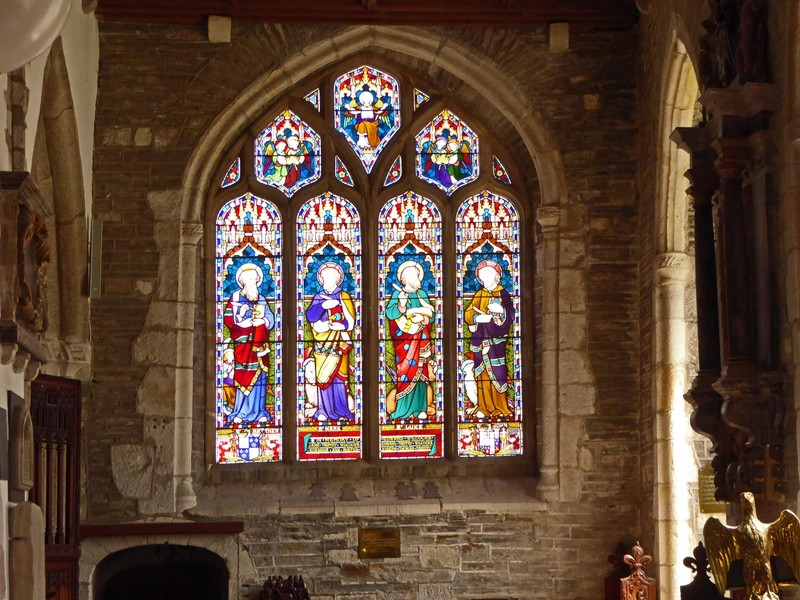 St. Fimbarrus Church in Fowey - Stained Glass