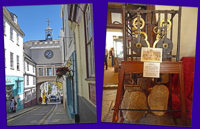East Gate Arch and clock works in the Totnes Museum