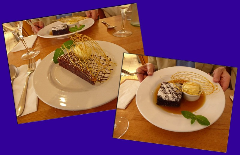 Our desserts at the Sea Food Café in St. Ives