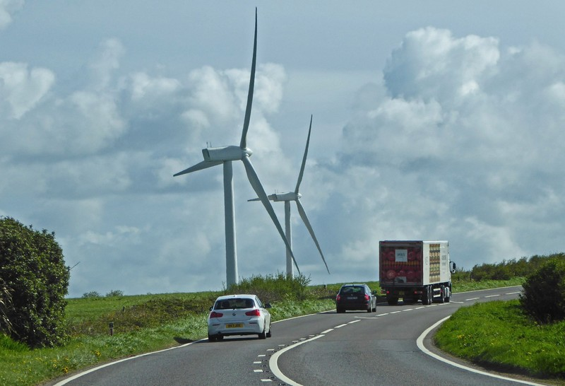 Windmills near Carland Cross in Cornwall