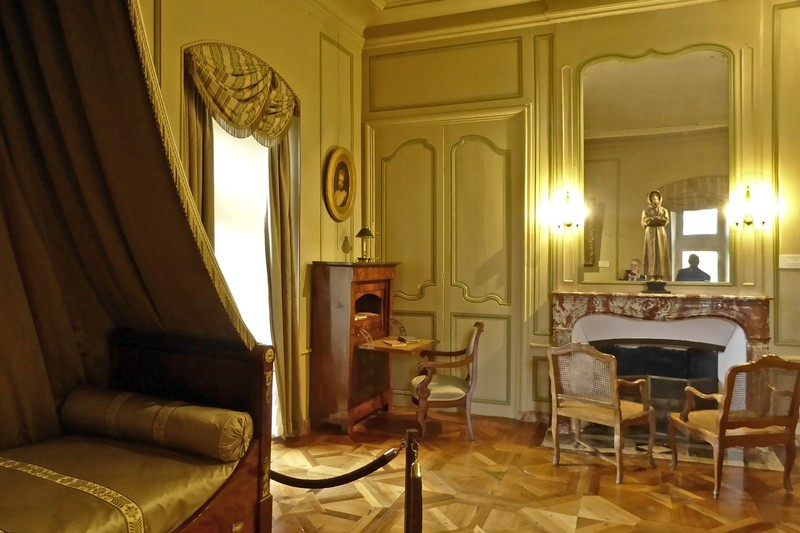 One of the bedrooms at Villandry