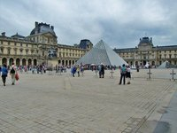 Pei Pyramid at the Louvre