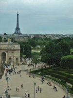 The Arc de Triomphe du Carrousel and the Eiffel Tower from the Louvre