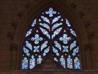 Stained glass window in Cathédrale Saint-Pierre et Saint-Paul de Nantes